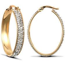 Bigiotteria ovale oro in cristallo