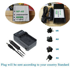 Battery + Charger for Casio CNP-40 Exilim / Pentax XG-1 & Kodak LB-060, NP-40