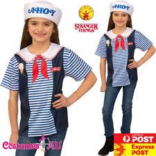 Kid Teen Ladies Stranger Things 3 Costume Robins Scoops Ahoy Uniform Netflix Tv