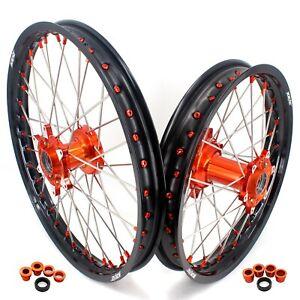 KKE 21/18 Cast Wheels Rim Set for SX125 150 300 SXF250 350 XC300 XC-F250 350 450