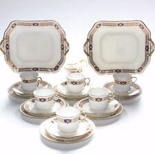 Cauldon China, Tea Set, Cobalt, Gilding