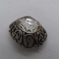 Broche Victoriano de plata y cristal de roca c-1880's Sin Reserva