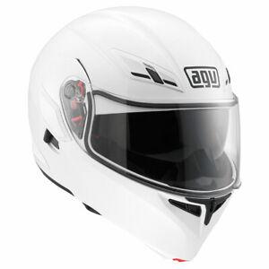 AGV Compact ST Mono White Motorbike Motorcycle Flip Front Helmet