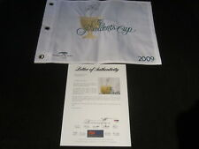 Geoff Ogilvy Signed 2009 Presidents Cup Pin Flag Psa/Dna Harding Park Sf