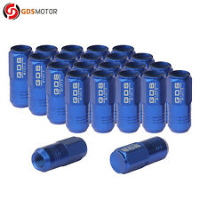 GDS 20 Blue Aluminum 12x1.5 Wheel Lug Nuts 50mm for Dodge Acura Chevrolet Honda