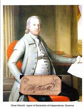 Oliver Wolcott Jr Autograph 2nd US Secretary Treasury 24th Governor Connecticut