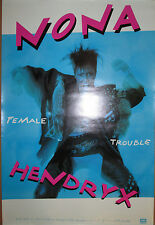 Nona Hendryx Female Trouble, Emi promotional poster, 1987, 24x36, Ex!