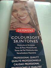 Derwent Coloursoft Skintones X 6. New