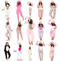 Ladies 1Onesie Hooded Cute Adult Animal Fleece Jumpsuit Pyjamas Nightwear Set
