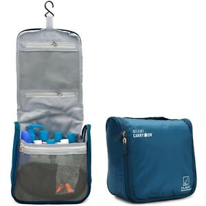 Miami CarryOn Travel Cosmetic Bag, Hanging Toiletry Bag - Water Resistant