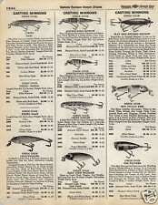 1935 PAPER AD Creek Chub Best O Luck Fishing Lure Wag Tail Mity Midget Pikie