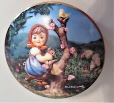 "Hummel Music Box, Danbury Mint, 1993,""Apple Tree Girl"", 23kt gold trim,w/ papers"