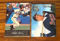 Chipper Jones 1993 Gold Leaf Rookies #19 and 1994 Ultra Rookie $#152