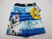 new DISNEY SH6117 Youth Boy's Size S Light Weight Drawstring Olaf Board Shorts