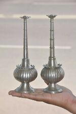 2 Pc Old Brass Melon Shape Handcrafted Rose Water Bottles / Sprinklers