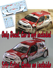 Decal 1:43 Yeray Lemes - RENAULT CLIO S1600 - WRC Rally Portugal 2010