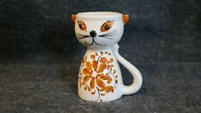 Vintage childs egg cup made in Portugal.In the shape of a Cat.