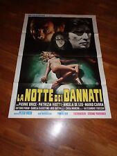 MANIFESTO LA NOTTE DEI DANNATI,Walter Ratti Pierre Brice Horror Sexy 1971