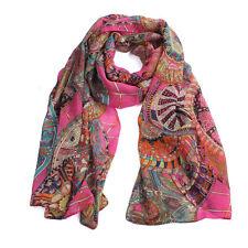 Fashion Women Girl Chiffon Printed Silk Long Soft Scarf Shawl Scarf Hot Selling