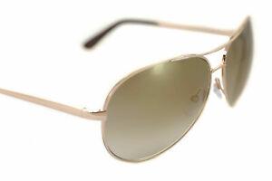 Tom Ford FT0035 28G Charles Polarized CR-39 Lenses Aviator  Sunglasses///