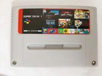130 in 1 Super Nintendo SNES Multi Cart Game Card Cartridge PAL EUR Console