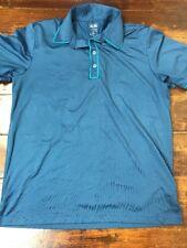 M2 Mens Adidas Golf Puremotion Blue Polo Shirt Medium