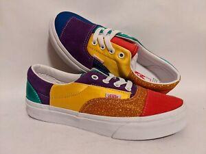 Vans New UA Era Pride Patchwork/True White Lady USA 7 Skate Shoes