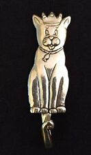 "CAT Wall hook, Pewter ""Basic Spirit Design"", Patrick Meyers, 5"" tall, NEW!!"