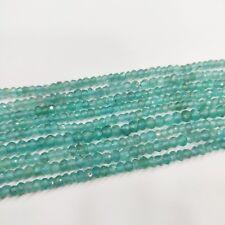 Natural Stone Apatite Semi Precious Stone Rondelle Faceted Craft Bead Strand VVT