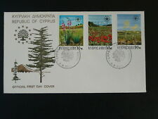 European year of nature conservation 1970 FDC Cyprus 77730