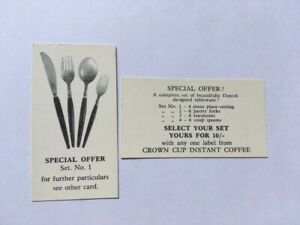 ADVERTISEMENT CARDS DANISH DESIGN TABLEWARE (TWO CARDS)