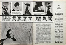 Mae West Fabrication A Retour Pour The Écran En ' Myra Brekinridge Rétro Article