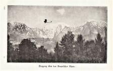 Der Flugverkehr über die Alpen anno 1927 - Hist. Bericht von 1927