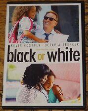 BLACK OR WHITE 2014 KEVIN COSTNER OCTAVIA SPENCER USA R1 DVD WITH SUBTITLES