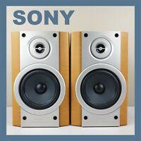 SONY Bookshelf Speakers HIFI 2 Way Bass Reflex Standmount Vintage Retro System