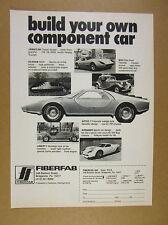1976 Fiberfab Aztec 7 Jamaican Scarab MiGi Avenger & Liberty vintage print Ad