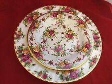 Royal Albert DOulton Old Country Roses  Ruby Ribbon 1 Salad plate new