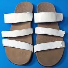 Vionic Orthaheel Sandals Slides Shoes Leather Comfort White Straps Women Size 8