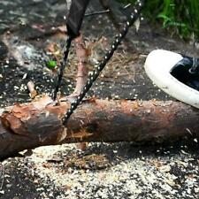 Portable Survival Chain Saw Chainsaw Emergency Camping Pouch Tool Hand B9A1