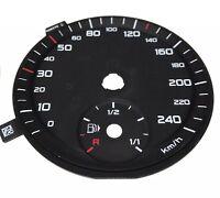 Audi A1 8X Diesel TFSI Km/H Disque Tacho Cadran Speedo Dial Visages Groupe