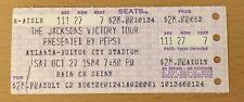 1984 MICHAEL JACKSON 5 VICTORY TOUR ATLANTA GEORGIA CONCERT TICKET STUB THRILLER