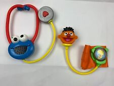 2006 Mattel Sesame Street Medical Kit Cookie Monster Stethoscope & Ernie Cuff