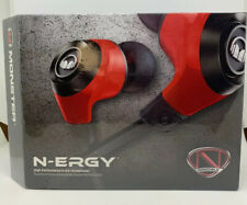 Monster NCredible N-Ergy In-Ear Headphones Cherry Red SEALED