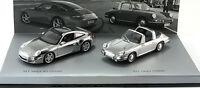 Porsche 911 Targa Set Chrome 911 Targa 1966 997 2006 Minichamps 1:43 WAP020SET16