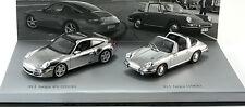 Minichamps Porsche 911 Targa Set 1966 / 2006 Chrome Model Car 1:43 Genuine New