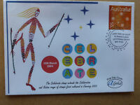 2004 CELEBRATE ABORIGINAL ART ALPHA FIRST DAY COVER FDC