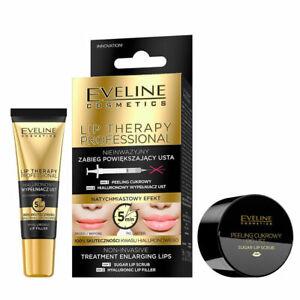 Eveline LIP THERAPY Enlarging Treatment Sugar Peeling & Hyaluronic Lip Filler