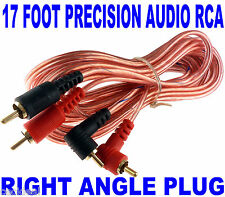 NEW PRECISION AUDIO 17 FT 2 CH RIGHT ANGLE CAR AMP RCA CABLES INTERCONNECT 17FT