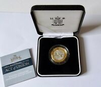2007 Act of Union Piedfort £2 Two Pound Silver Proof Coin+ COA and RM BOX
