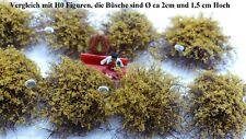 Vickto Büsche 10 Stück H0/TT Gelb/Braun